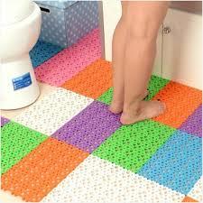 padded carpet tile fresh nonslip carpet bath mat er bathroom toilet floor mat plastic