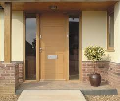 front doors with side panelsContemporary Timber Door with glazed side panels  Front Doors