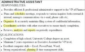 Administrative Assistant Duties Resumes Administrative Assistant Duties List For Resume Admin Job