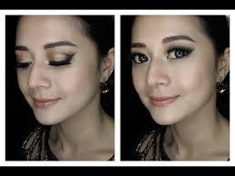 malam berinai majlis bersanding gold smokey eye party makeup tutorial