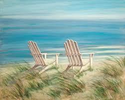 adirondack chairs on beach. Brilliant Chairs Adirondack Chairs Painting  By Tina Obrien To On Beach