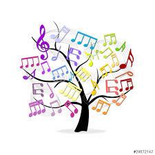 Resultado de imagen de imágenes de notas musicales en colores