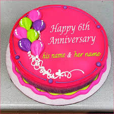 Anniversary Cake With Name