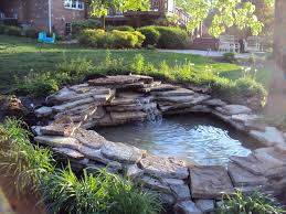 Small Picture Large Pond Landscape Ideas Images About Waterfall Ideas Large