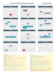 Printable Attendance Calendar 2020 2019 2020 School Calendar Approved Amherst Pelham Regional