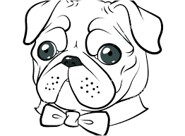 Pug Coloring Pages To Print Portraits And For Free Printable Dog