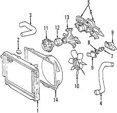 parts com® toyota sequoia radiator oem parts 2005 toyota sequoia sr5 v8 4 7 liter gas radiator
