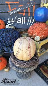 painted baseball pumpkin fall decor magic brush