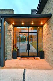 modern glass entry doors contemporary residential