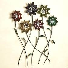 Articles With Metal Wall Art Flowers Uk Tag: Metal Wall Decoration For 3D Metal  Wall