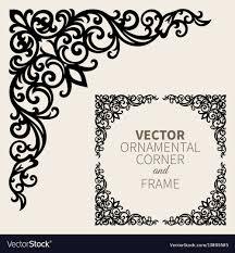 Corner Designs Vector Free Download Ornamental Corner Frame