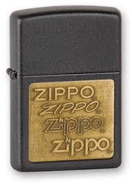 <b>Зажигалка Zippo</b> Black Crackle, Латунь с Порошковым ...