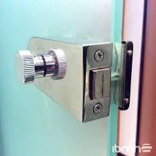 rv glass shower door latch