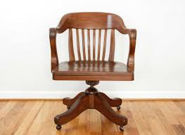 antique wood office chair. Antique Wood Office Chair With Beautiful Curves And Rounded Edges C