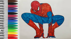 Super hero on the background of the web. The Amazing Spiderman Coloring Pages Spiderman Fun Pages Sailany Coloring Kids Youtube