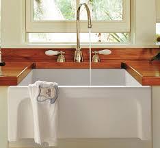 alfi brand ab2418arch w white arched a thick wall fireclay farm sink