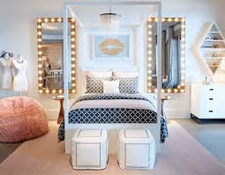 cool furniture for teenage bedroom. Creative Around Square Long Wall Mirror Ideas And Modern Chairs Decoration For Stunning Teenage Girls Bedroom Decorated With Cool Crystal Chandelier Fixture Furniture