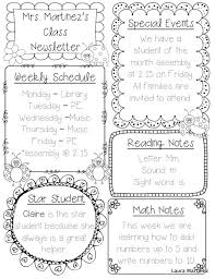 Teachers Newsletter Templates Free Editable Newsletter Templates For Teachers Template