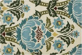 architecture teal and yellow area rug incredible quality contemporary flower design in 80 x 150