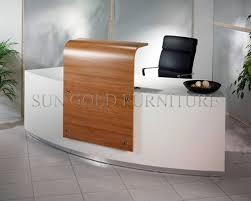 modern office reception furniture. elegant design reception table with glass topsolid wood surface modern office desk furniture