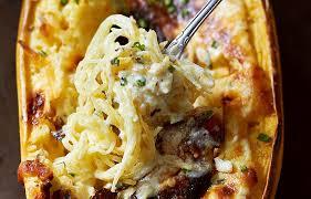 Spaghetti Squash Nutritional Values Baked Four Cheese Garlic Spaghetti Squash