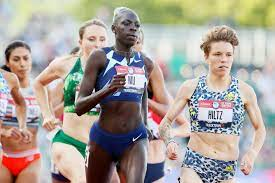 track standouts at the Olympic trials ...