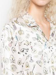 Morgan Lane Ruthie Key Print Pyjama Top 38HL Pink   Farfetch