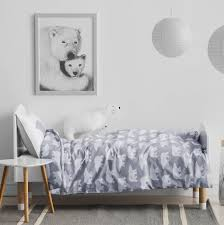 polar bear print children s bedding set