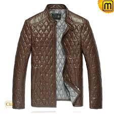 Men's Black Quilted Leather Jacket CW821001 & Brown Quilted Leather Jacket cw821001 - jackets.cwmalls.com Adamdwight.com