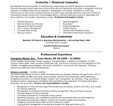 Sample Controller Resume Controller Resume Example Dreaded Accounting Sample Template Finance 20