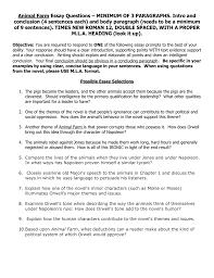 Animal Farm Essay Animal Farm Essay On Leaders