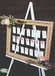 Picture Frame Seating Chart Diy Bohemian Wedding Seating Chart The Elli Blog In 2019