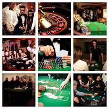 Black Tie Theme Conference Entertainment Fun Casino Tables Blackjack