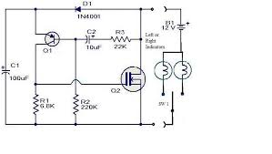 transistors electronic flasher with low load detection Electronic Flasher Wiring Diagram existing flasher without low load detection 2 Prong Flasher Wiring-Diagram
