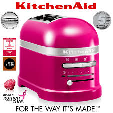 kitchenaid artisan 2 slot toaster raspberry ice