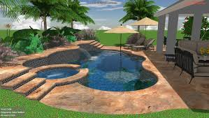 3d Swimming Pool Design 1 3D Spa And With Waterfall