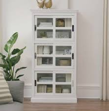 home decorators collection lexington white glass door bookcase the home depot