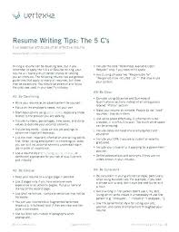 Free Resume Tips And Examples Free Examples Of Resumes Resume And ...