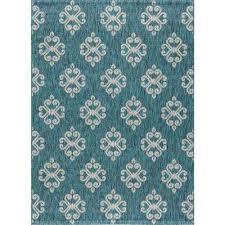 veranda teal 5 ft x 7 ft indoor outdoor area rug