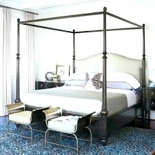 Chrome Canopy Bed King Size Canopy Chrome Metal Poster Bed By ...