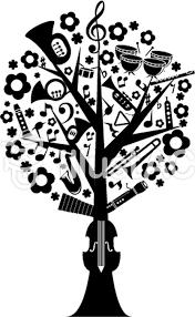 音楽の樹モノクロイラスト No 131559無料イラストならイラストac