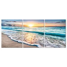 canvas prints wall art home decor painting pic photo sea beach blue landscape on outdoor beachy wall art with beach canvas art ebay