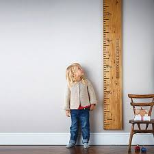 Personalised Wooden Ruler Height Chart Kids Rule Height