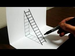 how to draw 3d steps easy trick art you