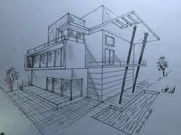 Beautiful Architectural Drawings Of Modern Houses Architecture House Design Perspective View Youtube For Decor