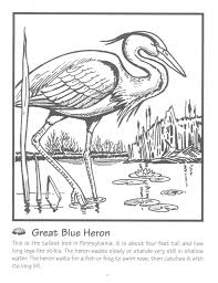 Small Picture Blue Heron Coloring Page Urban threads and blue he ECEAP Ideas