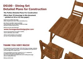 Free Woodworking Furniture Plans Home Garden Plans Ds100 Dining Table Set Plans Woodworking