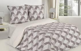 <b>Комплект постельного белья Ecotex</b> Квадро, коричневый ...