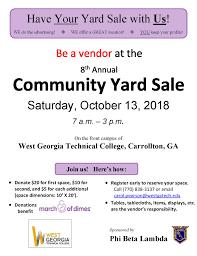 Community Yard Sale West Georgia Technical College