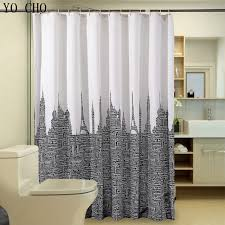 modern fabric shower curtain. Waterproof Bathroom Curtains White Black Polyester Shower Curtain Letters Tower Modern Fabric Customized Bath L
